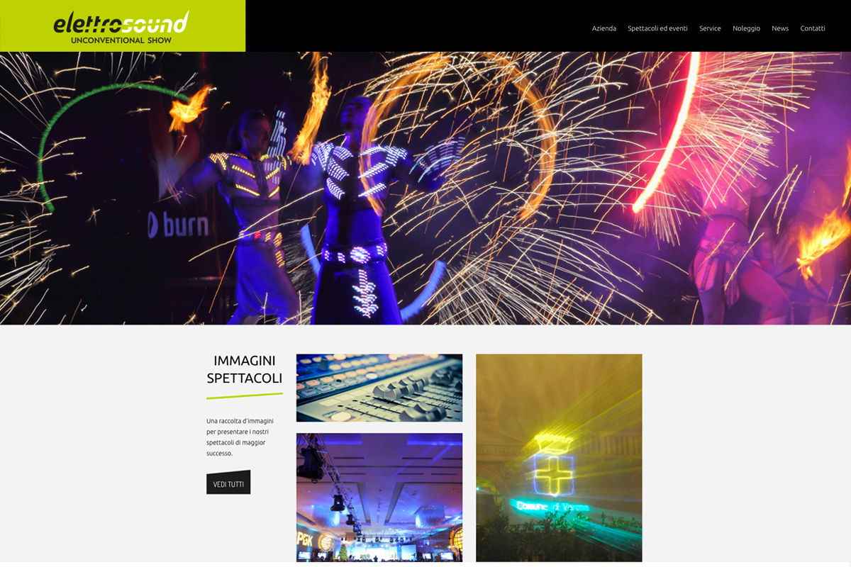 Fontane danzanti, fontane luminose, service completo. Elettrosound Verona